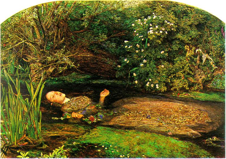 BROKE LITTLE RICH GIRL: Ophelia (1851-2) by John Everett ...
